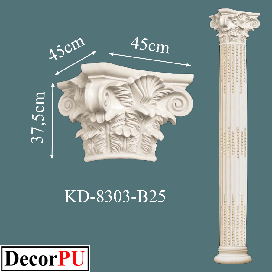 KD-8303-b25-Corinthian-Column-Pedestal-with-Capital-and-Base-kuwait-italy-france-england-germany-polyurethane-column-corinth-ion-column-models-decorpu