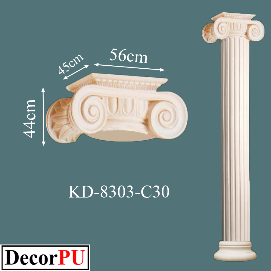 KD-8303-c30-Order-of-Greek-Architecture-polyurethane-pillars-models-decorpu-columns-image-models-sale-Italy-Britain-Germany-Libya-Romania-Hungary-Albania-France-Austria-Greece-Canada-decorpu