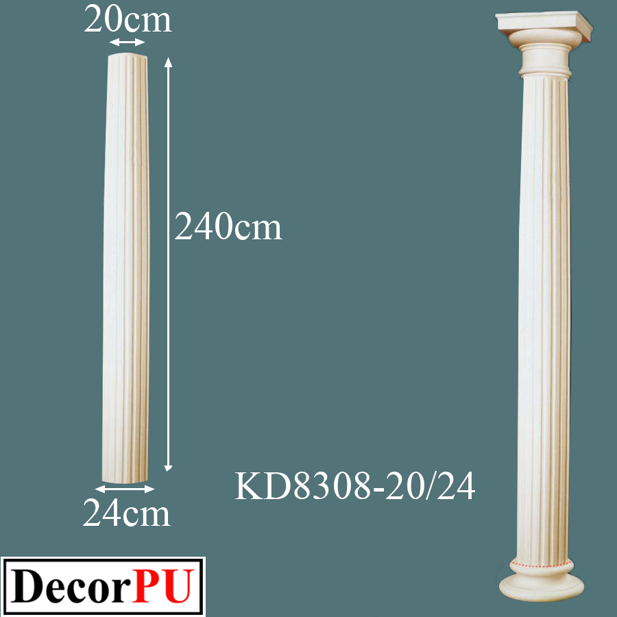 KD-8308-20-24-20cm-doric-order-column-Building-Products --first Class-polyurethane-Column-Types-Doric-Corinthian-Ionic-Tuscan-Composite-Column-architectura-models-polyurethane-decoration-