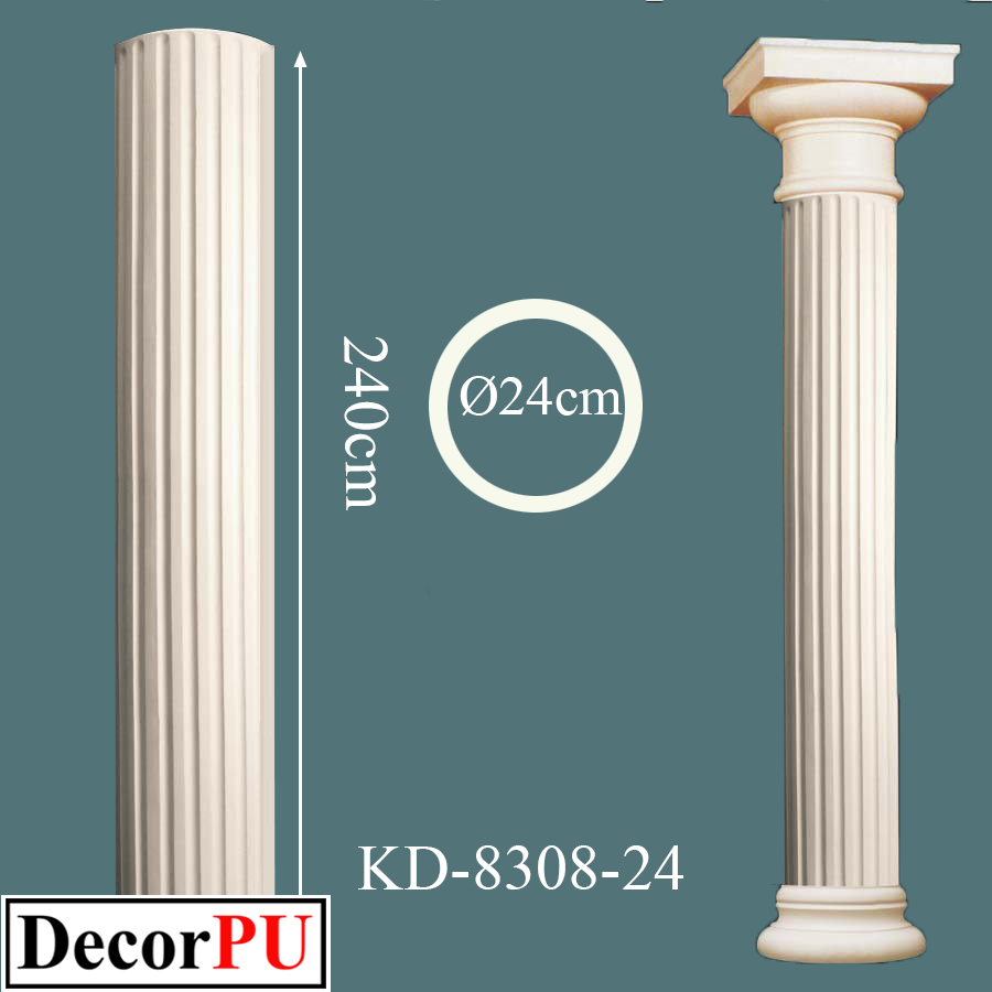 KD-8308-24-24cm-polyurethane-architectural-architecture-art-bracket-building-capital-church-column-construction-cult-cultural-cylinder-cylindrical-datail-foreground-historical-history-inside-