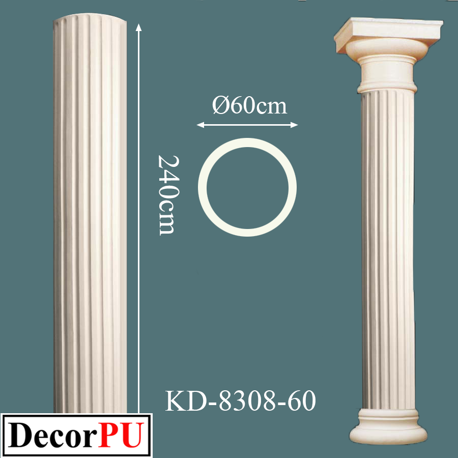 KD-8308-60-60cm-polyurethane-architectural-architecture-art-bracket-building-capital-church-column-construction-cult-cultural-cylinder-cylindrical-datail-foreground-historical-history-60cm