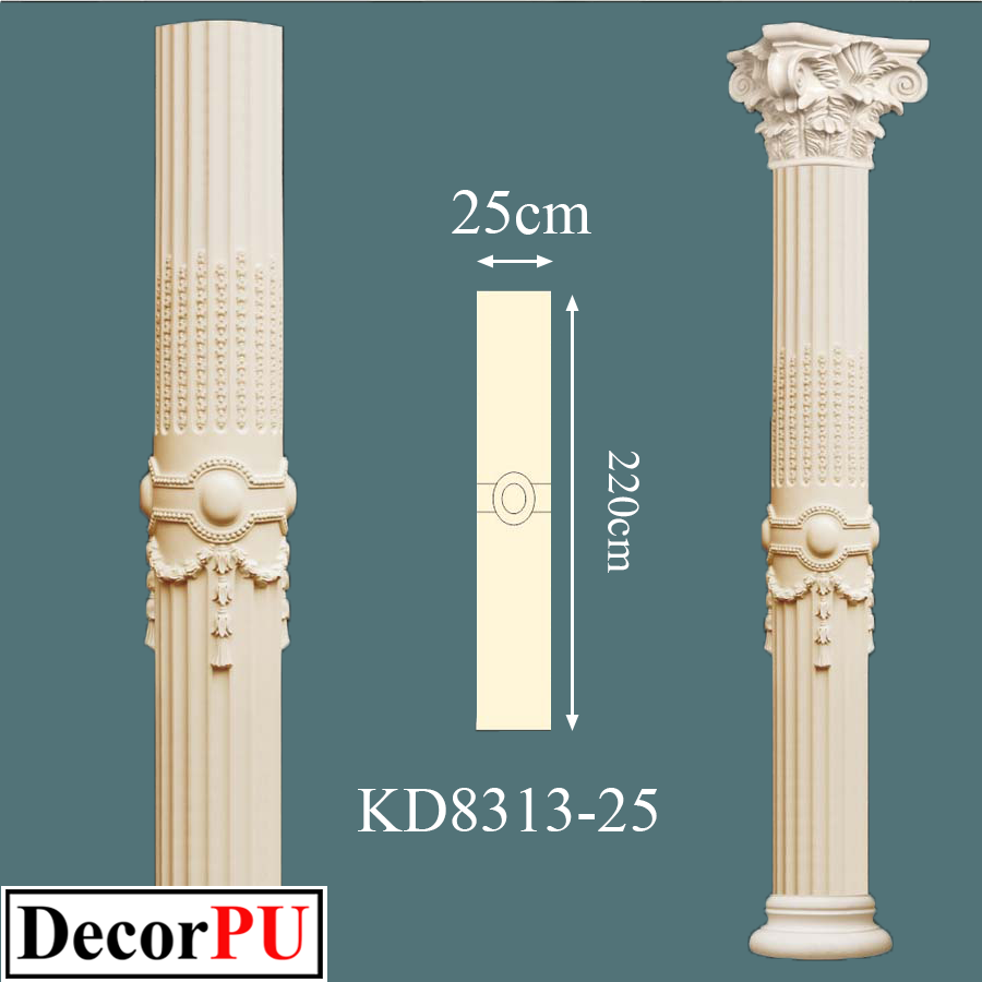KD-8313-25-25cm-decorative-column-columns-model-polyurethane-architectural-architecture-art-bracket-building-capital-church-column-construction-cult-cultural-cylinder-cylindrical-datail-fo