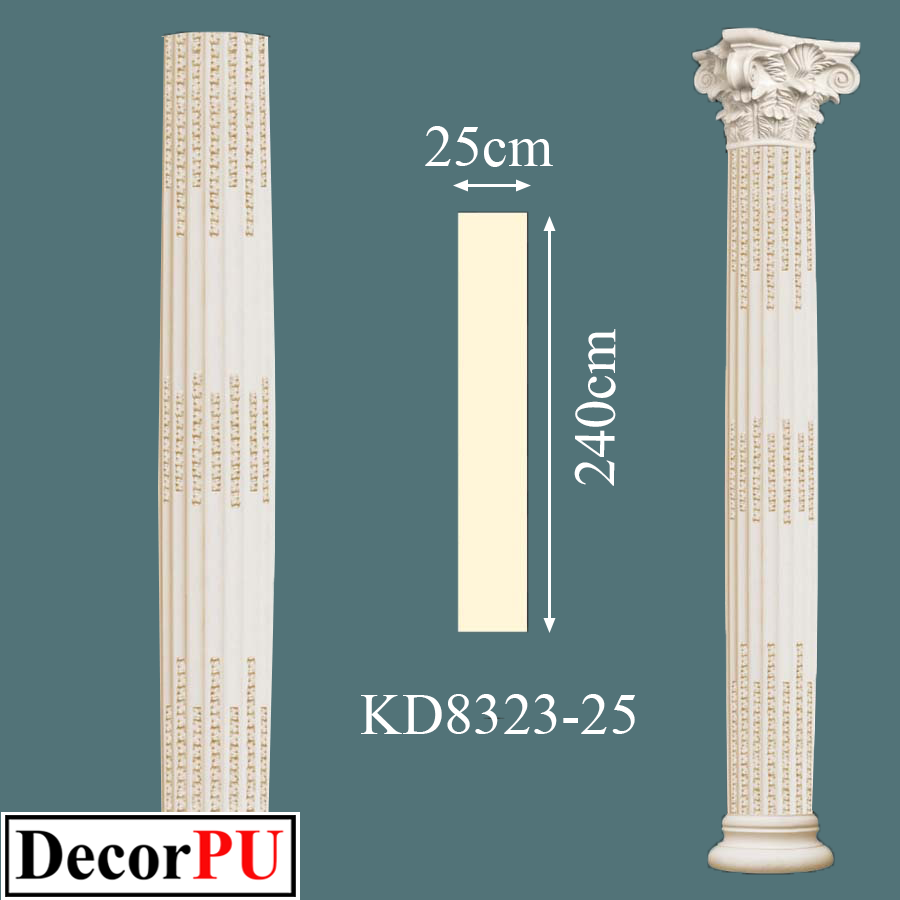 KD-8323-25-25cm-Factory-Supply-Outstanding-Quality-Reinforced-Roman-Column-doric-order-column-Building-Products --first Class-polyurethane-Column-Types-Doric-Corinthian-Ionic-Tuscan-Compos